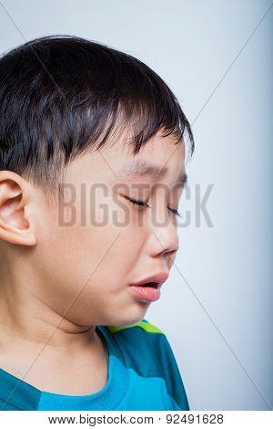 Closeup Asian Boy (thai) Crying