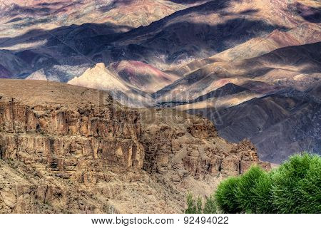 Play Of Light And Shadow, Ladakh Mountains , India