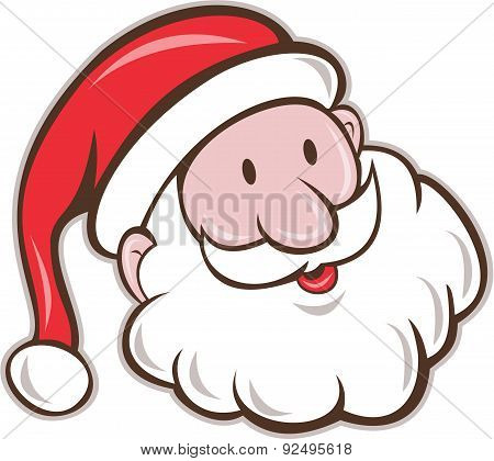 Santa Claus Father Christmas Head Smiling Cartoon