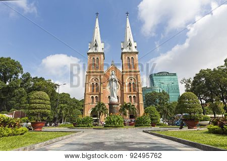 Notre Dame Cathedral, Nha Tho Duc Ba, Ho Chi Minh, Vietnam