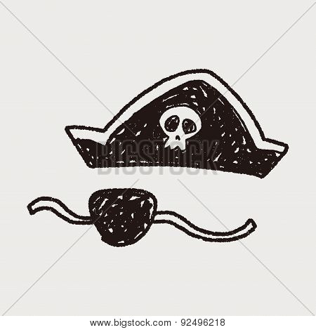 Pirate Hat And Mask Doodle
