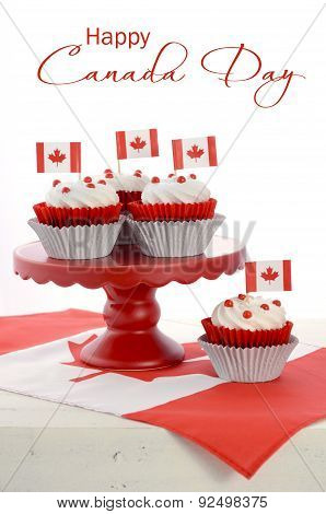Happy Canada Day Cupcakes