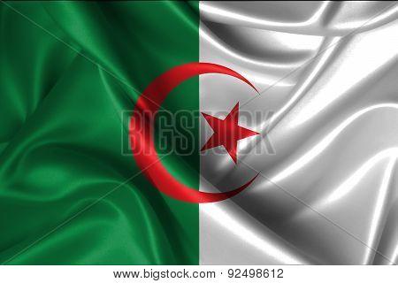 Wavy Flag Of Algeria