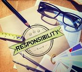 stock photo of trust  - Responsibility Reliability Trust Liability Trustworthy Concept - JPG