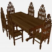 Medieval Table And Chair poster