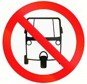 picture of tricycle  - An Indonesian sign prohibiting thoroughfare for motorized tricycles - JPG