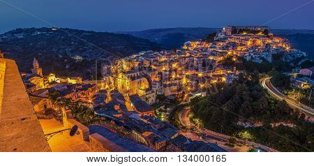 Sicily, Italy: Ragusa Ibla in the evening