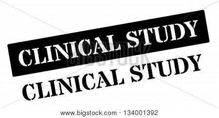 Clinical Study Black Rubber Stamp On White