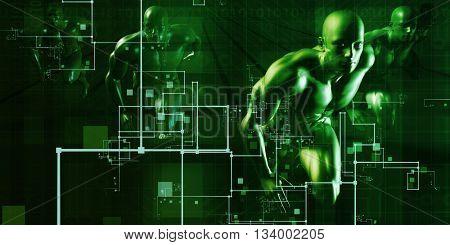 Online Security Internet Concept as a Background 3d Illustration Render