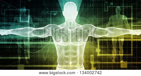 Medical Body Technology as a Futuristic Concept 3d Illustration Render