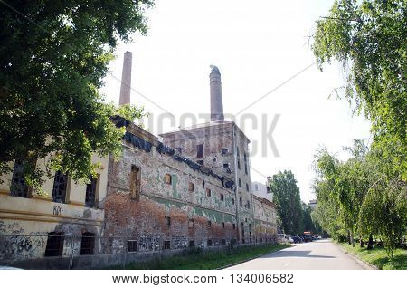 Building of the old brewery in Pancevo