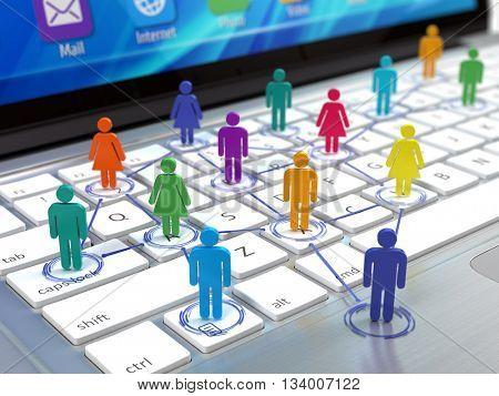 Social network concept. 3d rendering