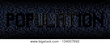 Population text on abstract people background illustration