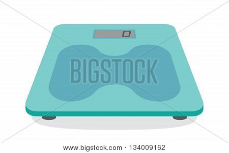 Bathroom weight scale on white background. Vector Illustration