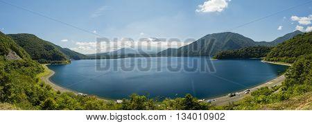 Lake Motosu And Mount Fuji