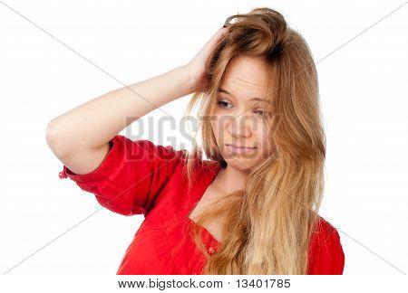 Confused Teenage Girl
