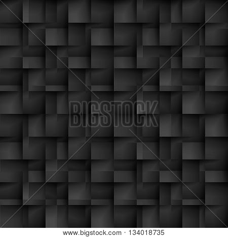 Seamless texture pattern of black color in the form of cells