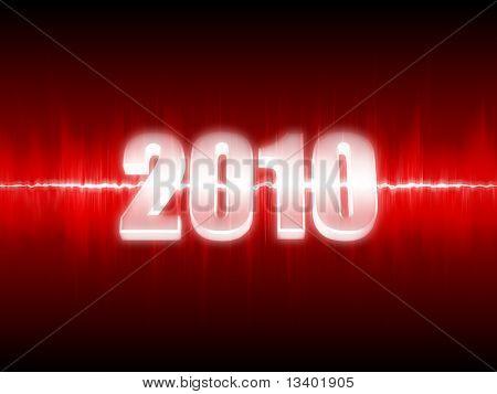 Waveform new year background