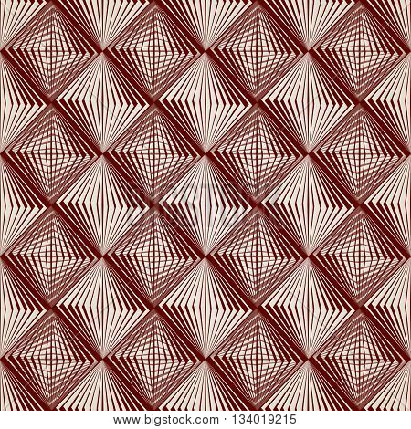 Abstract pattern of straight lines in brown colour from squares