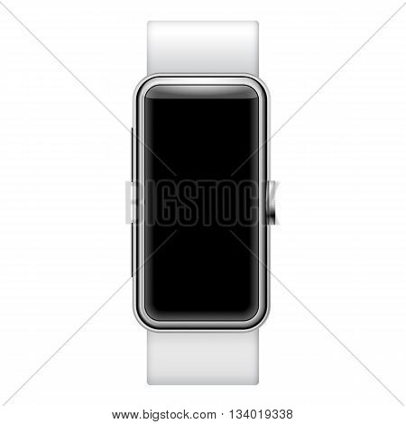 Smartwatch ilustration isolated on white background with place for your text on display