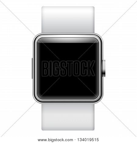 smartwatch ilustration isolated on white background with place for your text