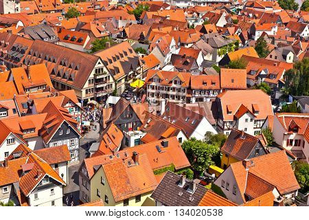 cityview of old historic town of Oberursel Germany.