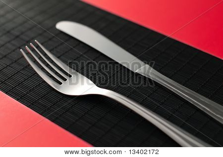 Knife And Fork On The Tablee