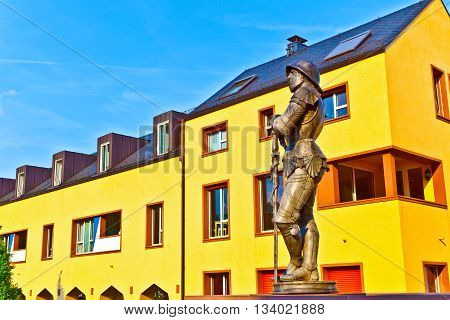 Statue Of Knight Hartmut Zu Kronberg