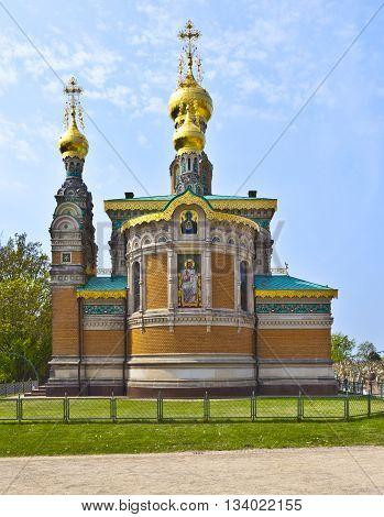 DARMSTADT, GERMANY - JUNE 3, 2011: Russian orthodox church Darmstadt Germany