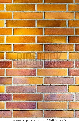 brickwall with harmonic pattern in orange color