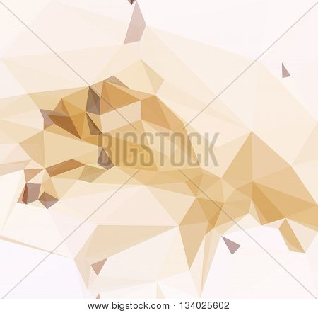Background with Abstract Low Poly Geometrical Pattern. Vector