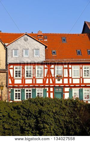 Half-timbered Houses In Frankfurt Hoechst