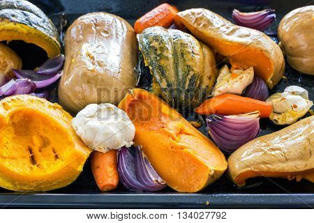 Just from еру oven roasted pumpkin garlic onion carrot