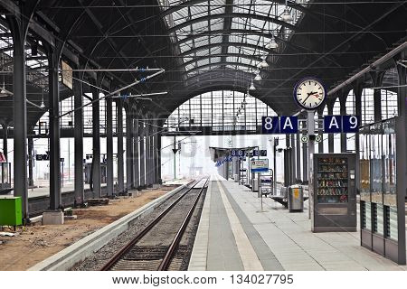 Railway Station In Wiesbaden