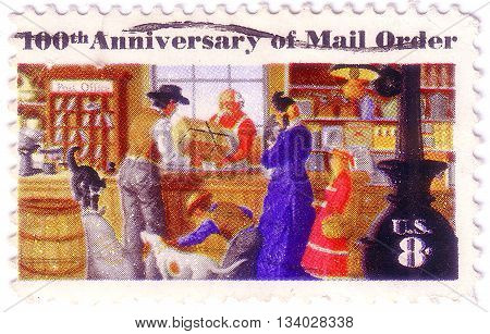 Usa - Circa 1972 : A Stamp Printed In United States Of America Celebrating The 100Th Anniversary Of