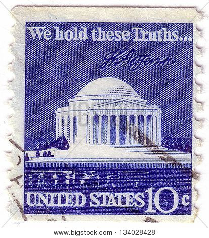 Usa - Circa 1980: A Stamp Printed In Usa Shows Image Of The Dedicated To The