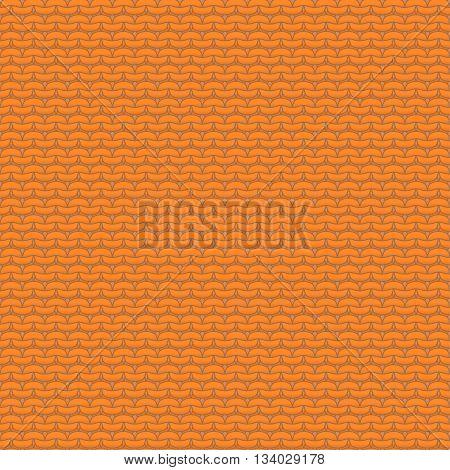 Orange knitted seamless pattern reverse stockinette stitch