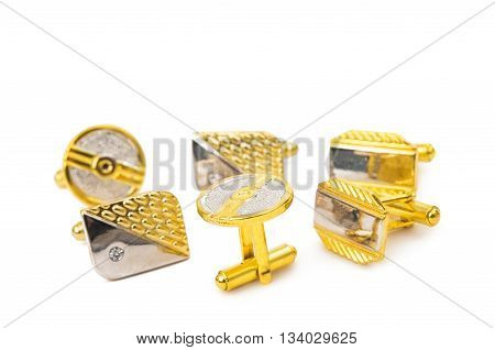 style  men cufflinks isolated on white background