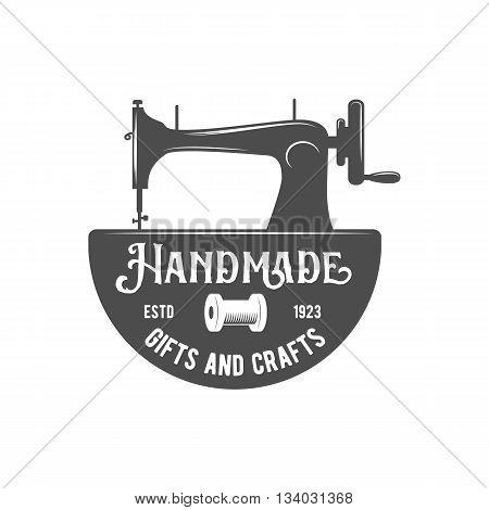 Tailor labels, badges, design elements and emblems. Shop design elements vector.