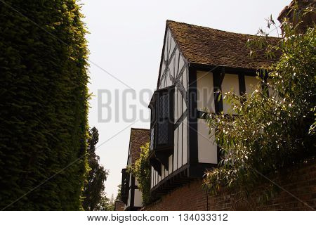 Old tudor building in Beaconsfield Buckinghamshire England