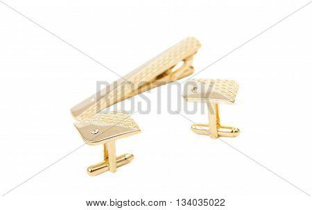 stylish accessory  cufflinks isolated on white background
