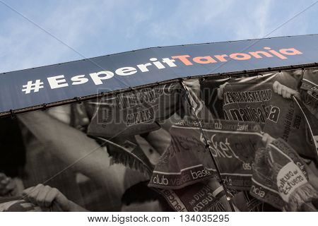 VALENCIA, SPAIN - JUNE 9th: 4th playoff match between Valencia Basket and Real Madrid at Fonteta Stadium on June 9, 2016 in Valencia, Spain