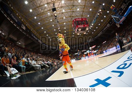 VALENCIA, SPAIN - JUNE 9th: during 4th playoff match between Valencia Basket and Real Madrid at Fonteta Stadium on June 9, 2016 in Valencia, Spain