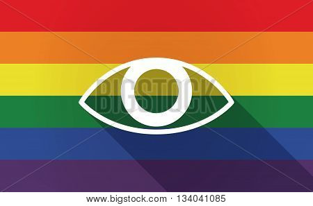 Long Shadow Gay Pride Flag With An Eye