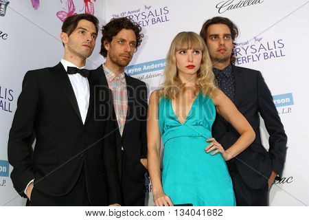 LOS ANGELES - JUN 11:  Phases, Alex Greenwald, Jason Boesel, Z Berg, Michael Runion at the 15th Annual Chrysalis Butterfly Ball at the Private Residence on June 11, 2016 in Brentwood, CA
