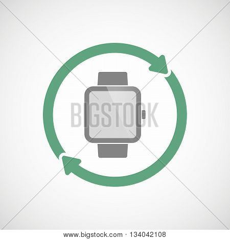 Reuse Line Art Sign With A Smart Watch