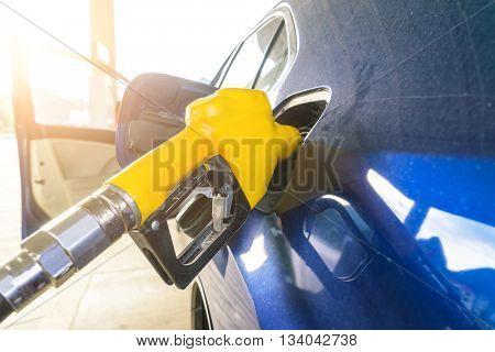 gas gun and car