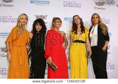 LOS ANGELES - JUN 11:  Rachel Zoe, Selma Blair, Rebecca Gayheart, Liz Carey, Elizabeth Berkley at the 15th Annual Chrysalis Butterfly Ball at the Private Residence on June 11, 2016 in Brentwood, CA