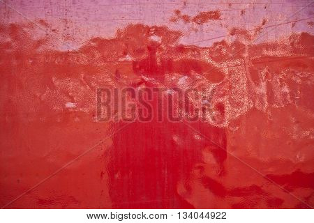 background of red metal of a train