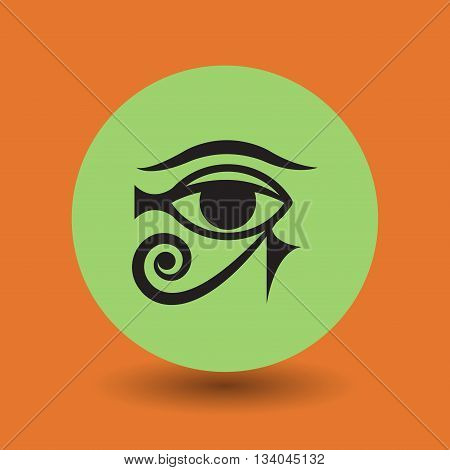 Abstract Ancient Egyptian symbol or icon, vector illustration